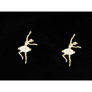 Brinco de Bailarina em zirconia - semi joia (Cód. BBRD00005)