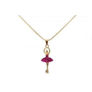Colar de Bailarina Resina Pink (Cód. BCOD00037)