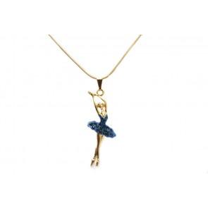 Colar de Bailarina Strass Azul (Cód. BCOD00040)