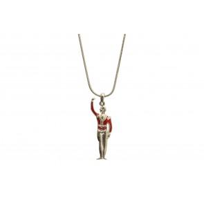 Colar de Bailarino com resina vermelha (Cód. BCOP00040)