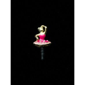 Pino celular em silicone resina pink/rosa (Cód. PI2)