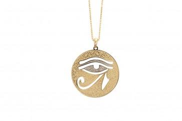 Colar Olho de Horus e aplicação de ródio (Cód. BCOD00066)